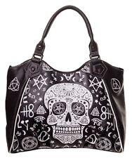 Pentagram Skull Handbag by Banned Shoulder Bag Occult Symbols Illuminati Gothic