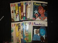 1971 PUNCH MAGAZINE LOT OF 49 ISSUES - GREAT COVERS - R 14