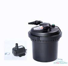 2100 Gal Pressure Pond Filter w/ 13W UV Sterilizer Koi Fish + 710 GPH Water Pump