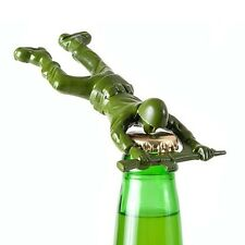 180 Degrees Army Man Bottle Opener Bar Tool Die Cast Metal Unique Beer Barware