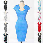 CHARM Ladies VTG 1950's style Fitted Pencil Wiggle Pin-up Work Dress