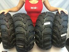"ITP MUDLITE 25"" AT ATV UTV TIRES SET OF 4 25x8-12 front 25x10-12 rear 6 PLY"