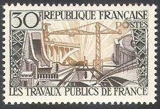 Francia 1957 Puente/Dam/Grúa/edificios/Energy/Electricidad/construcción 1v n33117