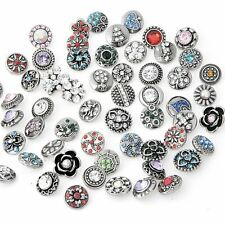 wholesales lots 10 mixed 12MM mini metal snaps Buttons Fit Snap Jewelry 0j