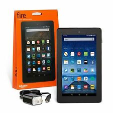 "New Amazon Kindle Fire 7"" 5th Gen IPS Black 8GB Front & Rear Camera - 2016 Model"