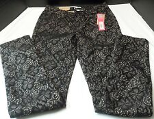 Ladies Jeans Black lace overlay Xhilaration Skinny Juniors 5 lower waist NWT