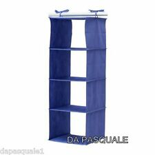 IKEA JALL - Closet Hanging Organizer with 4 Compartments Blue NEW