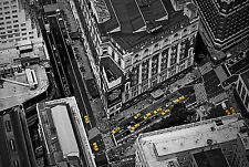Incorniciato stampa-Black & White Skyline New York con Taxi Giallo's (PICTURE POSTER