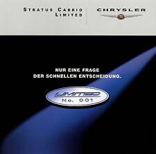 Prospetto CHRYSLER STRATUS CABRIO Limited 2 00 2000 brochure prospetto Auto Auto