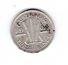 1944 S Sterling Silver Threepence 3P Coin Australia U-276