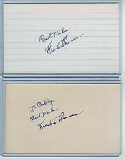 (2) FRANK THOMAS INDEX CARD SIGNED LOT 1962-64 NEW YORK METS PSA/DNA CERTIFIED