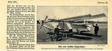 Der Drachenflieger des Olt.Fritzsche Historische Aufnahme mit Text von 1908