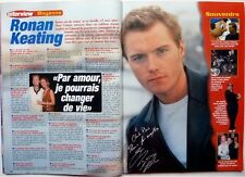 RONAN KEATING =  2 pages French Clipping (year 2000) !!!