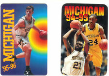 Lot 6 Michigan college basketball schedules 1992-1999