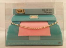 Post it Pop Up Note Dispenser Turquoise Clutch Fashion Purse 5 x 3.5 inch New