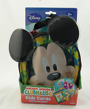DISNEY MICKEY MOUSE CLUBHOUSE ~ 4 KID'S CARD GAMES & CARRYING CASE ~ 30161 ~ NEW