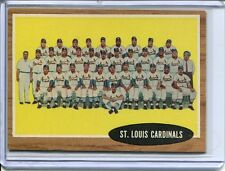 1962   Topps  Baseball     # 61   St. Louis Cardinals    NM    Near Mint