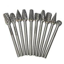 10pcs 6mm Tungsten Head Carbide Burrs For Rotary Drill Die Grinder Carving Bit