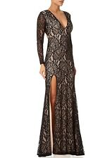 FOREVER UNIQUE Kelsie Long Sleeve Floral Lace Maxi Dress Sz 12 NWT
