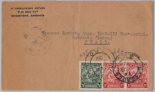BARBADOS -  POSTAL HISTORY - COVER to ITALY 1932