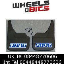 Fiat Blue logo Mudflaps Front or Rear Car Van Camper SUV Mud Flaps Splash Guards
