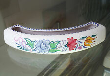 POOLE POTTERY FLOWER CRESCENT-FLORAL DESIGN-VGC