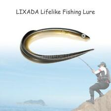 Soft Luminous oft Luminous Eel Fishing Lures Rubber Worm Bass Crank Bait X6G4