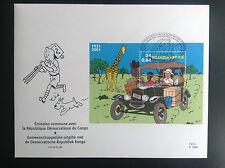 Enveloppe Timbres FDC Tintin 2001 Congo ETAT NEUF