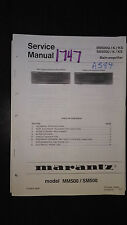 Marantz mm500u sm500 u/ks Service Manual stereo main amplifier amp original book