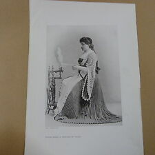 PRINT / CUTTING of - MADAME MELBA AS MARGARET IN FAUST- - for framing / decoupag