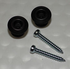 Dunlop Dual Design Guitar Bass Strap Lock BUTTONS ONLY NEW Black Finish Pair