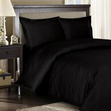 1000 Thread Count TC 100% Egyptian Cotton DUVET Set KING / CAL KING Black Stripe
