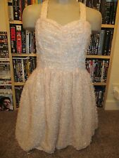 BNWT £45 UK 10 River Island Dress Pale Pink Tinsel Fluffy Wedding Party Prom
