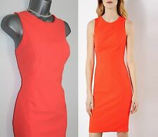 KAREN MILLEN Orange Stretch Pencil Cocktail Dress sz-12 EU-40 £170 DY091