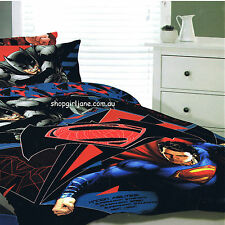 Batman v Superman - DC Comics - Queen Bed Quilt Doona Duvet Cover Set