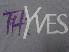 "DOPE SUPPLY MENS ""THYVES"" YSL STYLE GRAPHIC GRAY T SHIRT SIZE LARGE PREOWNED"
