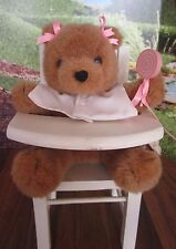 Teddy Bear in High Chair Music Box, Animated It's a Small World, Berkley Designs