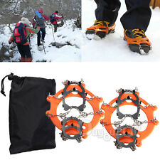 12 Teeth Ice Boot Shoe Crampons Spike Cleats Gripper Climbing Outdoor Gear Pairs