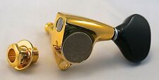 Gotoh SGV-510Z-BL5G Guitar Tuners Gold 3+3 - Black Buttons