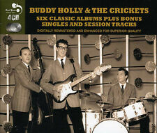 Buddy Holly SIX (6) CLASSIC ALBUMS+ Chirping Crickets THATLL BE THE DAY New 4 CD