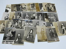 35 Original Photo card set Japan kabuki actor kimono samurai old No.4