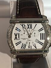 Men's Large Charriol Actor 1.68 CTW Diamond Watch With Box & Papers