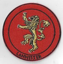 "3 INCH  ""LANNISTER"" GAME OF THRONES IRON ON PATCH  BUY 2 WE SEND THREE"