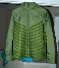 North Face Thermoball Duo Hooded Insulated Jacket Men Extra Large XL green puff