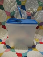 TUPPERWARE 13-Cup CEREAL Storer Sheer Keeper Canister #469 Country BLUE Seal VTG