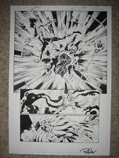 Bagley JLA 51 pg 22 OMEGA MAN (2'ND APPEARANCE ISSUE) + OWLMAN and JADE