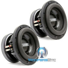 "(2) SUNDOWN AUDIO SD-2 8 D4 8"" SUBS DUAL 4 OHM SHALLOW BASS SUBWOOFERS PAIR NEW"