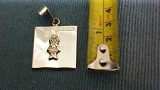 .925 STERLING SILVER GIRL PENDANT, New and Unused