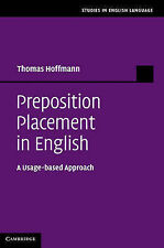 Preposition Placement in English: A Usage-based Approach (Studies in English Lan