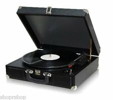 TechPlay ODC5E-BK AC-DC Portable suitcase 3 SPEED TURNTABLE WITH PC LINK
